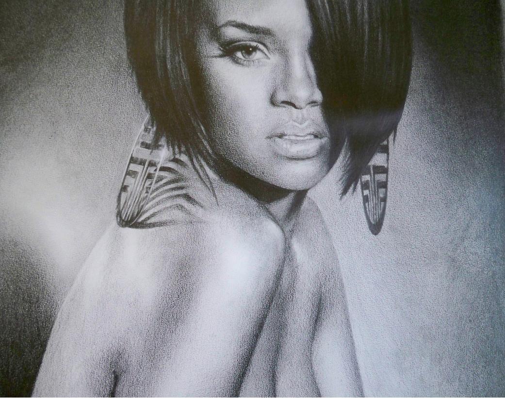 Rihanna dans Portraits en noir et blanc Rihanna