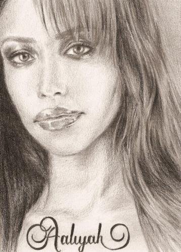 Aaliyah dans Portraits en noir et blanc aaliyah
