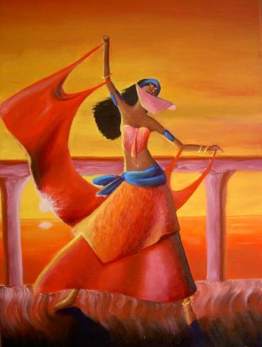 Danseuse orientale dans Peinture à l'huile danseuse-orientale