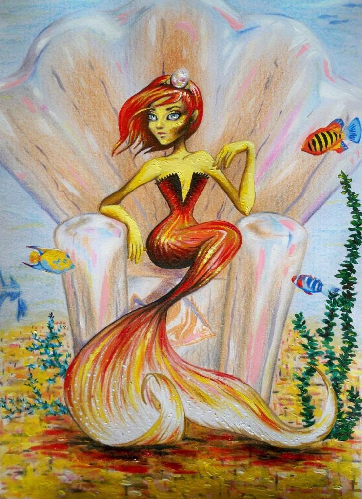 Sirène dans Illustrations sirene-742x1024